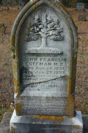 COFFMAN, JOHN FRANKLIN - Independence County, Arkansas | JOHN FRANKLIN COFFMAN - Arkansas Gravestone Photos
