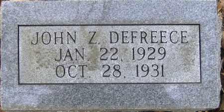 DEFREECE, JOHN Z - Independence County, Arkansas | JOHN Z DEFREECE - Arkansas Gravestone Photos