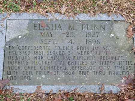 FLINN (VETERAN CSA), ELISHA M - Independence County, Arkansas | ELISHA M FLINN (VETERAN CSA) - Arkansas Gravestone Photos