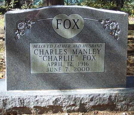FOX, CHARLES MANLEY - Independence County, Arkansas | CHARLES MANLEY FOX - Arkansas Gravestone Photos