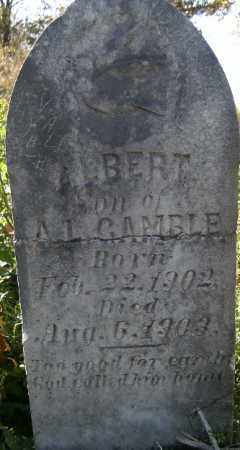 GAMBLE, ALBERT - Independence County, Arkansas | ALBERT GAMBLE - Arkansas Gravestone Photos