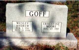GOFF, WESLEY ANDREW - Independence County, Arkansas | WESLEY ANDREW GOFF - Arkansas Gravestone Photos
