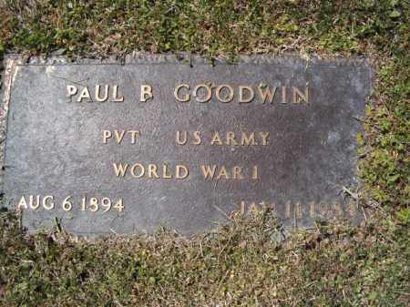 GOODWIN  (VETERAN WWI), PAUL B. - Independence County, Arkansas | PAUL B. GOODWIN  (VETERAN WWI) - Arkansas Gravestone Photos