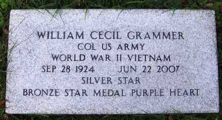 GRAMMER (VETERAN 2 WARS), WILLIAM CECIL - Independence County, Arkansas | WILLIAM CECIL GRAMMER (VETERAN 2 WARS) - Arkansas Gravestone Photos