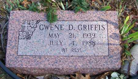 GRIFFIS, GWENE D - Independence County, Arkansas | GWENE D GRIFFIS - Arkansas Gravestone Photos