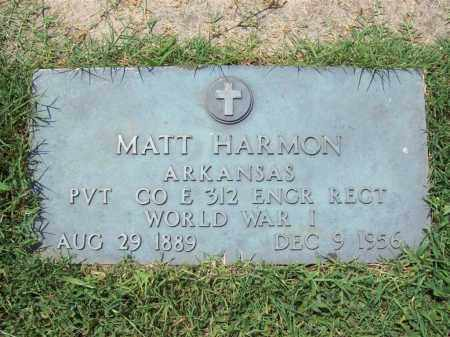 HARMON, SR  (VETERAN WWI), MATT - Independence County, Arkansas | MATT HARMON, SR  (VETERAN WWI) - Arkansas Gravestone Photos