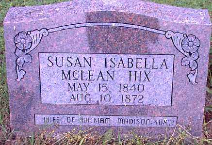 HIX,, SUSANNAH ISABELLA - Independence County, Arkansas | SUSANNAH ISABELLA HIX, - Arkansas Gravestone Photos