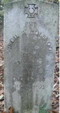 HOLBROOK  (VETERAN CSA), VIRGIL - Independence County, Arkansas | VIRGIL HOLBROOK  (VETERAN CSA) - Arkansas Gravestone Photos
