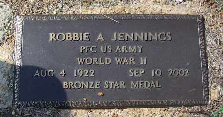 JENNINGS (VETERAN WWII), ROBBIE A - Independence County, Arkansas | ROBBIE A JENNINGS (VETERAN WWII) - Arkansas Gravestone Photos