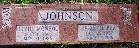 JOHNSON, ARKIE DELPHA - Independence County, Arkansas | ARKIE DELPHA JOHNSON - Arkansas Gravestone Photos