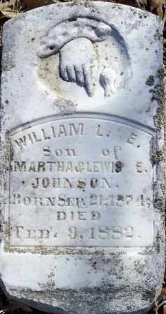 JOHNSON, WILLIAM L. E. - Independence County, Arkansas | WILLIAM L. E. JOHNSON - Arkansas Gravestone Photos