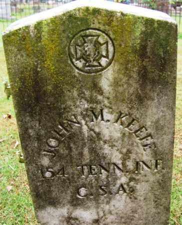 KEEFE  (VETERAN CSA), JOHN M - Independence County, Arkansas   JOHN M KEEFE  (VETERAN CSA) - Arkansas Gravestone Photos