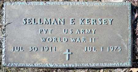 KERSEY (VETERAN WWII), SELLMAN E - Independence County, Arkansas | SELLMAN E KERSEY (VETERAN WWII) - Arkansas Gravestone Photos