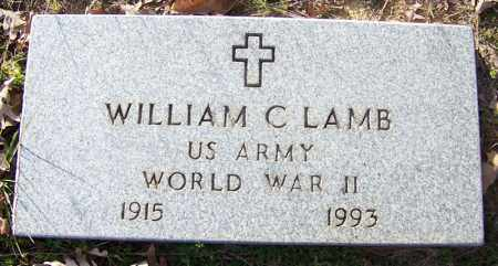 LAMB (VETERAN WWII), WILLIAM C - Independence County, Arkansas | WILLIAM C LAMB (VETERAN WWII) - Arkansas Gravestone Photos