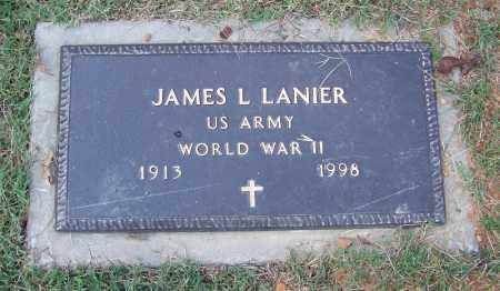LANIER (VETERAN WWII), JAMES L - Independence County, Arkansas | JAMES L LANIER (VETERAN WWII) - Arkansas Gravestone Photos