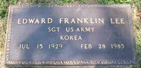 LEE  (VETERAN KOR), EDWARD FRANKLIN - Independence County, Arkansas | EDWARD FRANKLIN LEE  (VETERAN KOR) - Arkansas Gravestone Photos