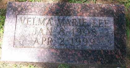 LEE, VELMA MARIE - Independence County, Arkansas | VELMA MARIE LEE - Arkansas Gravestone Photos