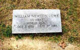 LOWE  (VETERAN WWI), WILLIAM NEWTON - Independence County, Arkansas | WILLIAM NEWTON LOWE  (VETERAN WWI) - Arkansas Gravestone Photos