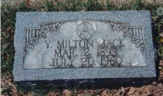 "MACK, YOUNG MILTON ""MILTON"" JR., - Independence County, Arkansas 