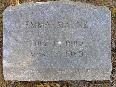 MAUNZ, EMMA - Independence County, Arkansas | EMMA MAUNZ - Arkansas Gravestone Photos