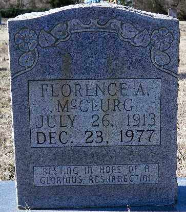 MCCLURG, FLORENCE A. - Independence County, Arkansas | FLORENCE A. MCCLURG - Arkansas Gravestone Photos
