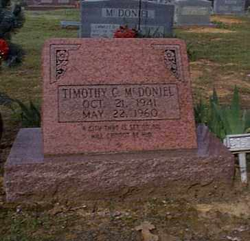 MCDONIEL, TIMOTHY C. - Independence County, Arkansas | TIMOTHY C. MCDONIEL - Arkansas Gravestone Photos