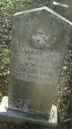 MCNUTT, MARY J. - Independence County, Arkansas | MARY J. MCNUTT - Arkansas Gravestone Photos