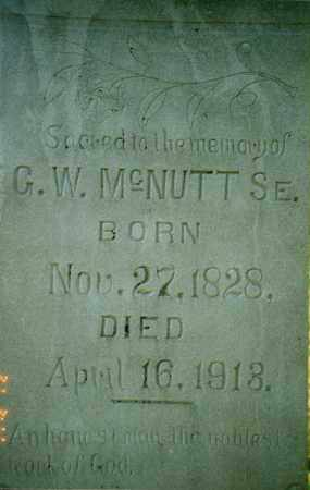 "MCNUTT, SR., GEORGE WASHINGTON ""G.W."" - Independence County, Arkansas 