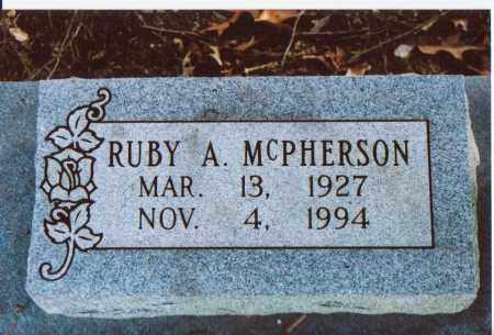 MCPHERSON, RUBY A. - Independence County, Arkansas | RUBY A. MCPHERSON - Arkansas Gravestone Photos
