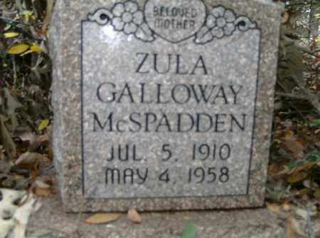 MCSPADDEN, ZULA - Independence County, Arkansas | ZULA MCSPADDEN - Arkansas Gravestone Photos