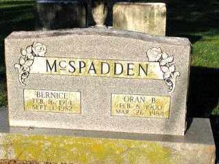 MCSPADDEN, ORAN B. - Independence County, Arkansas | ORAN B. MCSPADDEN - Arkansas Gravestone Photos