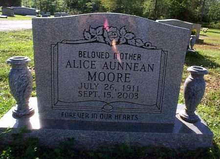 MOORE, ALICE AUNNEAN - Independence County, Arkansas | ALICE AUNNEAN MOORE - Arkansas Gravestone Photos