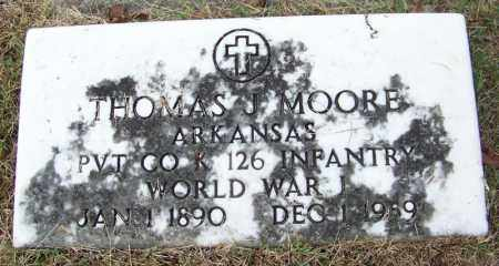 MOORE (VETERAN WWI), THOMAS J - Independence County, Arkansas | THOMAS J MOORE (VETERAN WWI) - Arkansas Gravestone Photos
