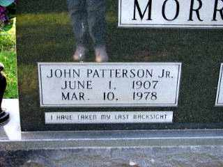 MORROW, JOHN PATTERSON JR. - Independence County, Arkansas | JOHN PATTERSON JR. MORROW - Arkansas Gravestone Photos