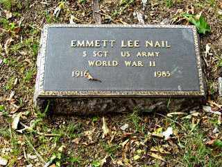 NAIL  (VETERAN WWII), EMMETT LEE - Independence County, Arkansas | EMMETT LEE NAIL  (VETERAN WWII) - Arkansas Gravestone Photos