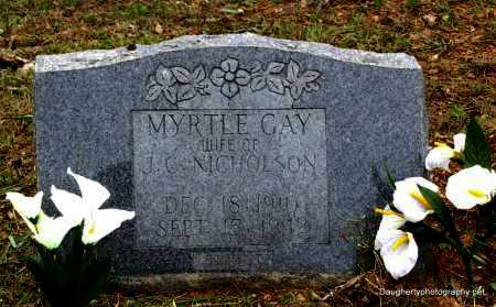 GAY NICHOLSON, MYRTLE - Independence County, Arkansas | MYRTLE GAY NICHOLSON - Arkansas Gravestone Photos