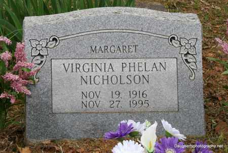 PHELAN NICHOLSON, VIRGINIA - Independence County, Arkansas | VIRGINIA PHELAN NICHOLSON - Arkansas Gravestone Photos
