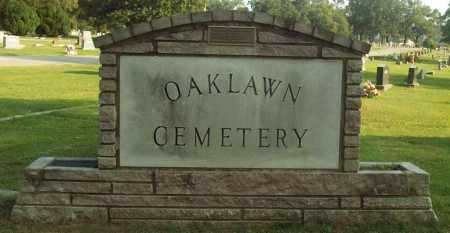 *OAKLAWN CEMETERY SIGN,  - Independence County, Arkansas |  *OAKLAWN CEMETERY SIGN - Arkansas Gravestone Photos