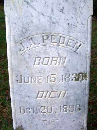 PEDEN (VETERAN CSA), J A - Independence County, Arkansas | J A PEDEN (VETERAN CSA) - Arkansas Gravestone Photos