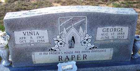 RAPER, VINIA - Independence County, Arkansas | VINIA RAPER - Arkansas Gravestone Photos