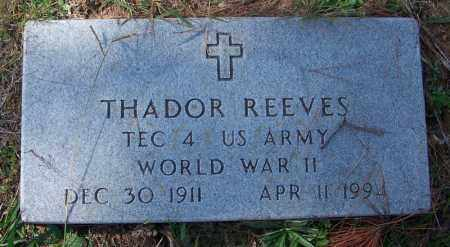 REEVES (VETERAN WWII), THADOR - Independence County, Arkansas | THADOR REEVES (VETERAN WWII) - Arkansas Gravestone Photos