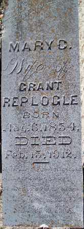 REPLOGLE, MARY C. - Independence County, Arkansas | MARY C. REPLOGLE - Arkansas Gravestone Photos
