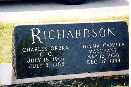 MARCHANT RICHARDSON, THELMA CAMILLA - Independence County, Arkansas | THELMA CAMILLA MARCHANT RICHARDSON - Arkansas Gravestone Photos