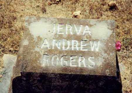 ROGERS, JERVA ANDREW - Independence County, Arkansas | JERVA ANDREW ROGERS - Arkansas Gravestone Photos