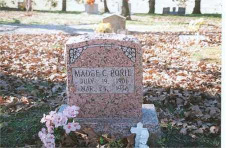 RORIE, DOROTHY MADGE - Independence County, Arkansas | DOROTHY MADGE RORIE - Arkansas Gravestone Photos
