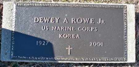 ROWE, JR (VETERAN KOR), DEWEY A - Independence County, Arkansas | DEWEY A ROWE, JR (VETERAN KOR) - Arkansas Gravestone Photos