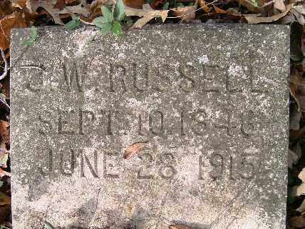 RUSSELL, J.W. - Independence County, Arkansas | J.W. RUSSELL - Arkansas Gravestone Photos