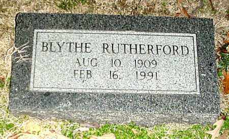 "RUYTHERFORD, CHESTER BLYTHE ""BLYTHE"" - Independence County, Arkansas 