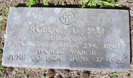 SELF  (VETERAN), ROBERT DEWEY - Independence County, Arkansas | ROBERT DEWEY SELF  (VETERAN) - Arkansas Gravestone Photos