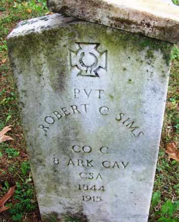 SIMS (VETERAN CSA), ROBERT C - Independence County, Arkansas | ROBERT C SIMS (VETERAN CSA) - Arkansas Gravestone Photos